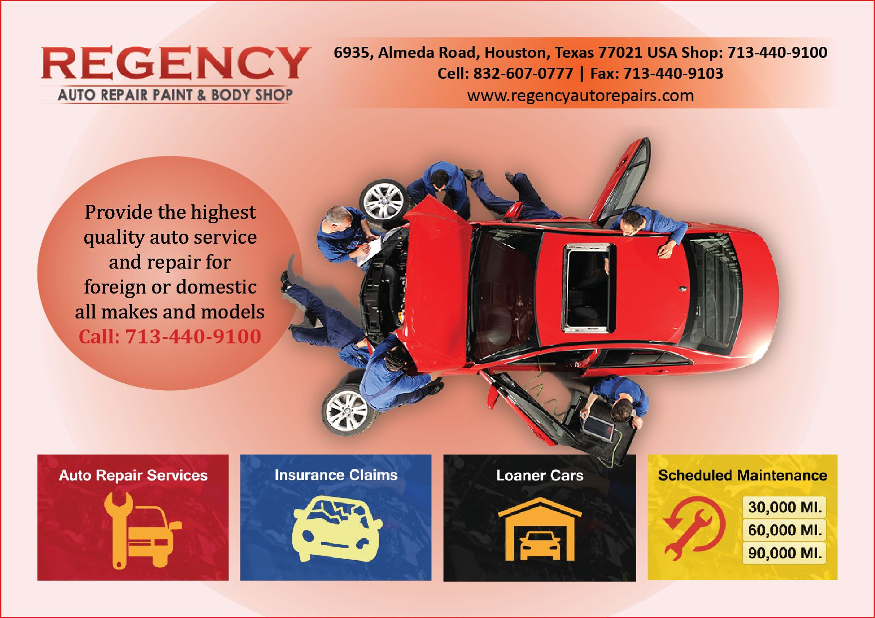 Regency Auto Repairs Provide The Highest Quality Auto Service And