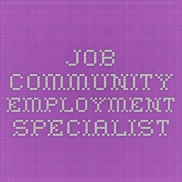 Job Community Employment Specialist Job Hunting Job