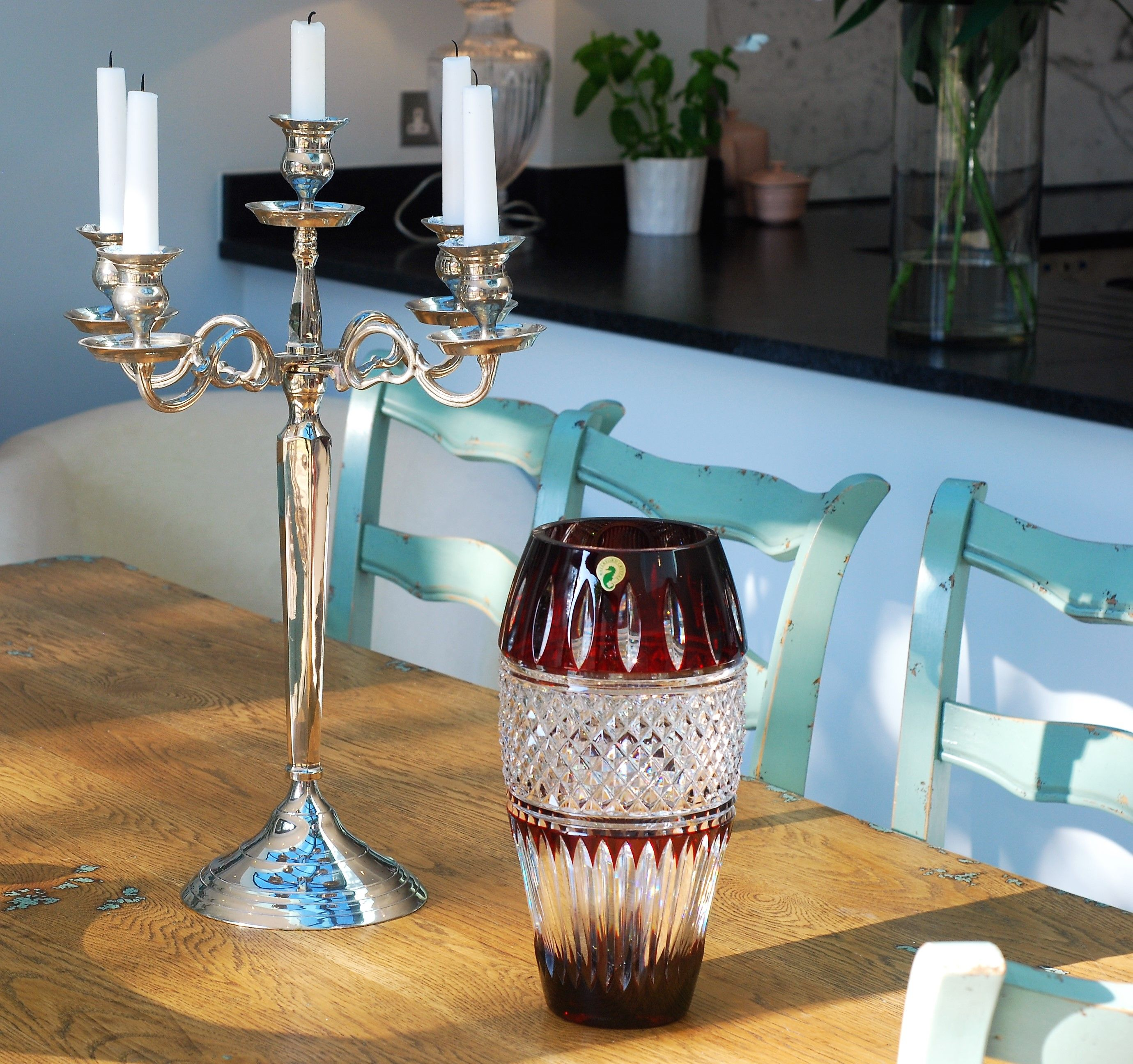 Waterford Irish Lace Ruby 12in Vase