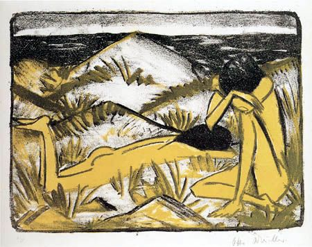 Otto Mueller - Two girls in the dunes, 1920