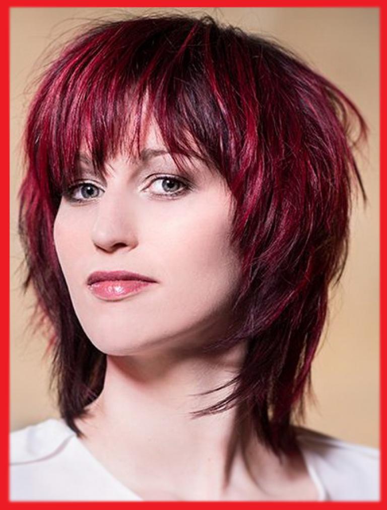 Roten Haaren Fransige Frisuren Mittellang Frisuren Trend Pinterest