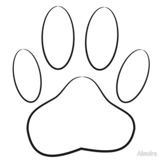 White Dog Paw Print Sticker By Almdrs White Dogs Dog