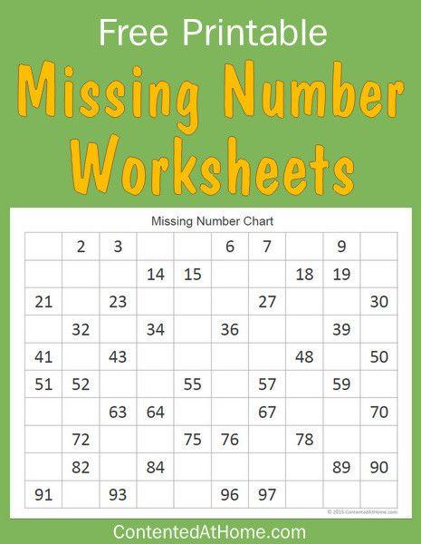 Free Math Printables Missing Number Worksheets Ultimate