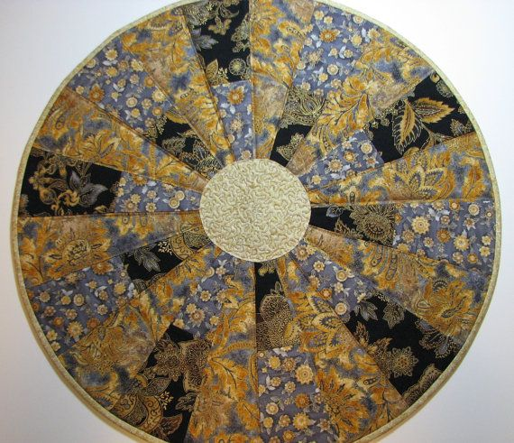 Elegant Round Quilted Table Topper By VillageQuilts On Etsy, $28.00
