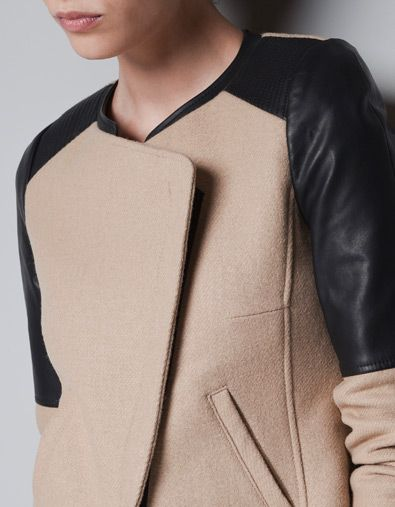 Contrasting Jacket Zara United Jackets Trf With Shoulders Wool HExwAAR