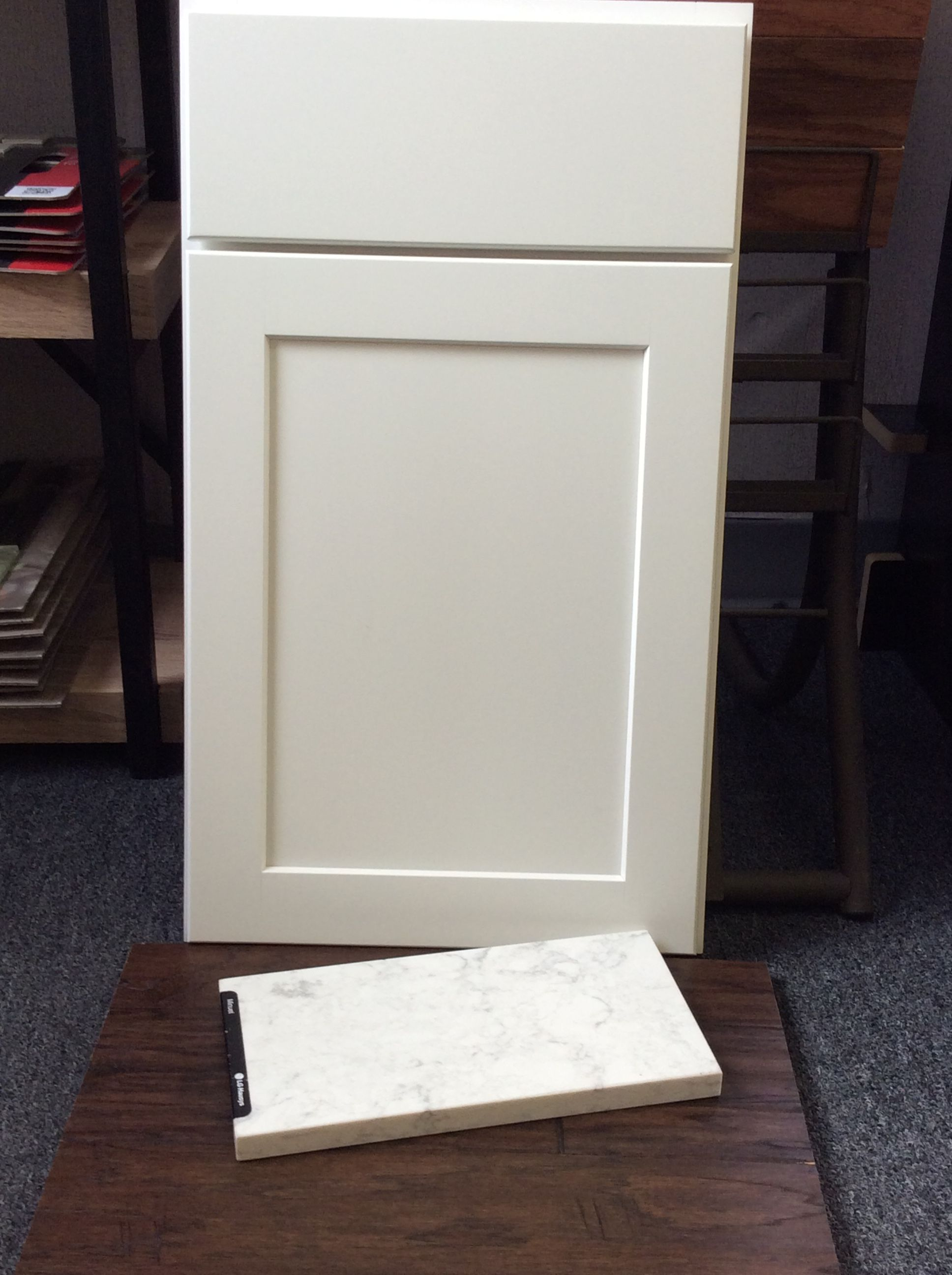 Best Aristokraft Winstead White Maple Cabinets Quartz Minuet 640 x 480