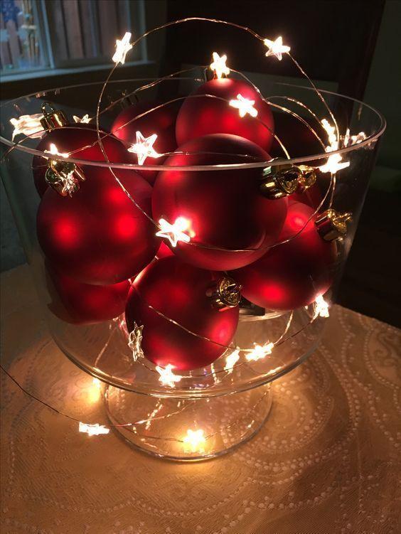 Einfache und lustige DIY Weihnachtsdekorationen und Tischdekoration, die die Bank nicht spren... #christmasdecorations
