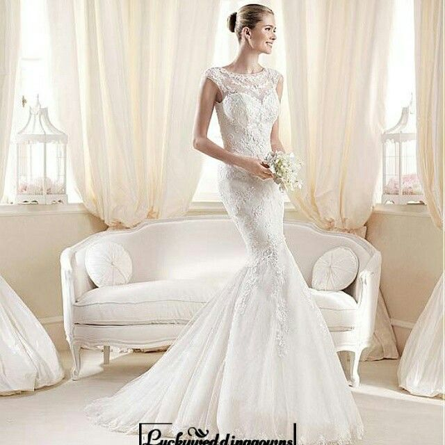 Alluring Tulle & Satin Queen Anne Neckline Natural Waistline Mermaid Wedding Dress http://www.luckyweddinggown.com/alluring-tulle-satin-queen-anne-neckline-natural-waistline-mermaid-wedding-dress-p-1539.html  #wedding #dresses #party #Luckyweddinggown #Luckywedding #design #style #weddingdresses #bridaldresses #love #me #cute #beautiful #girl #shopping #lovely #clothes #instagood #follow #fashion