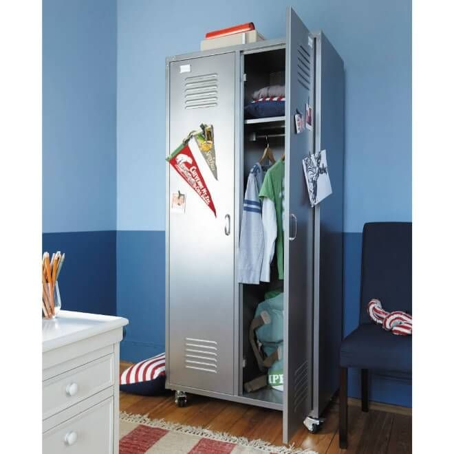 Metal Storage Lockers | Cool boys room, Cool bedrooms for ...