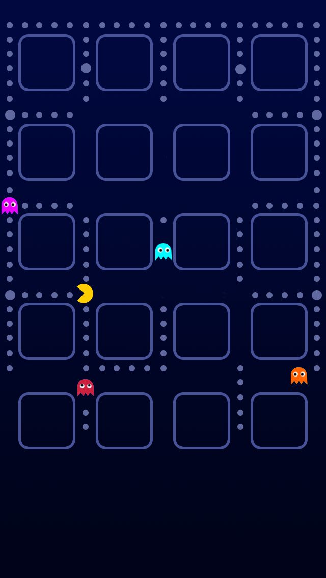 Image From Http Iphonewalls Net Wp Content Uploads 2012 10 Pacman 20game 20iphone 2 Iphone 5s Wallpaper Computer Screen Wallpaper Cool Backgrounds For Iphone