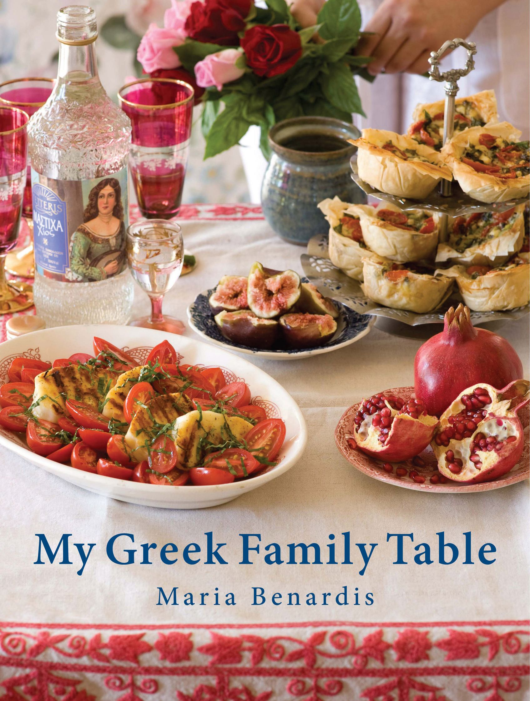 The book cover of my greek family table greek food greek the book cover of my greek family table greek food greek recipes forumfinder Gallery