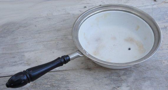 Vintage Victorian Edwardian Antique Enamel Pan by SycamoreVintage, $79.00