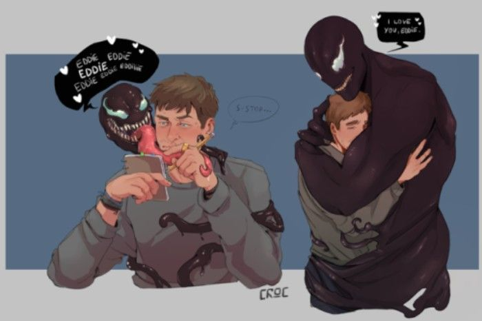 30 Fan Art Of Venom og Eddie Brocks Relationship kunst-8835