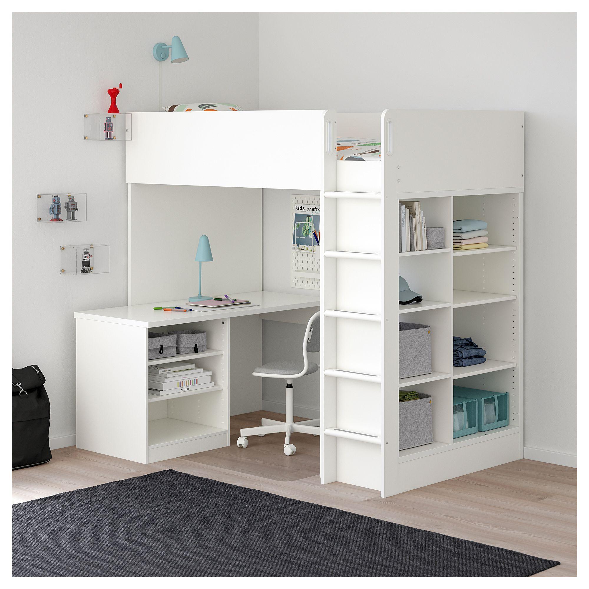 Best Ikea Stuva Loft Bed Combo W 2 Shlvs 3 Shlvs White 400 x 300