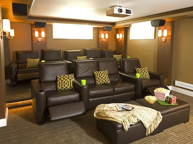 The Family Theater Room Is Complete With Surround Sound Accent