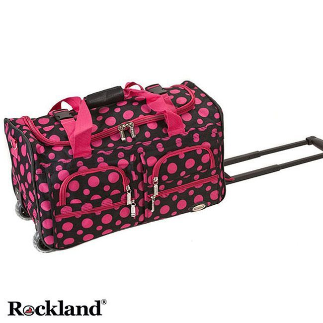 Travel in style with this cute set of patterned carry-on rolling ...