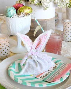Diy easter bunny favor bags favor bags easter bunny and favors diy easter bunny favor bags negle Choice Image