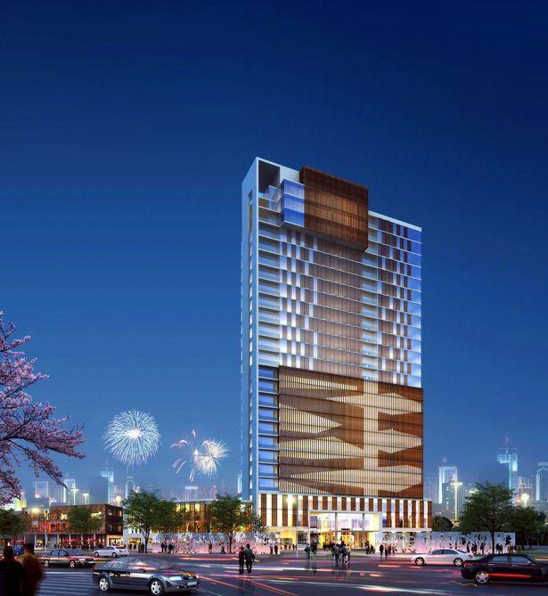 Wuxi China Mixed Use Hotel Condominium And Retail Development By Cordogan Clark Associates Chicago Il Aurora Il