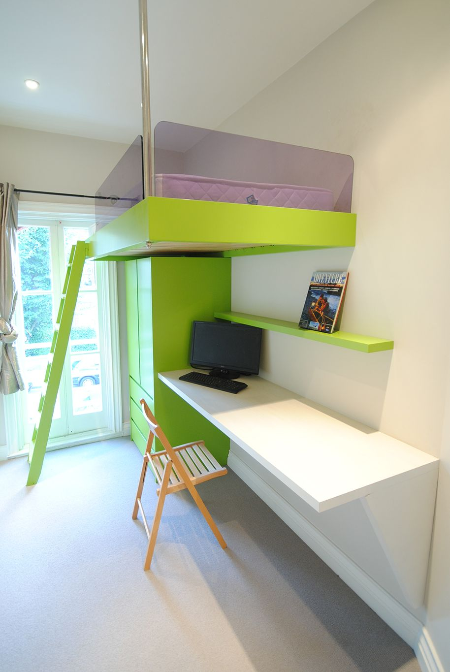 A Bespoke Living Space Solution Designed And Crafted Entirely At Creative Woodwork In London Www Cre Small Kids Room Small Room Design Box Room Bedroom Ideas