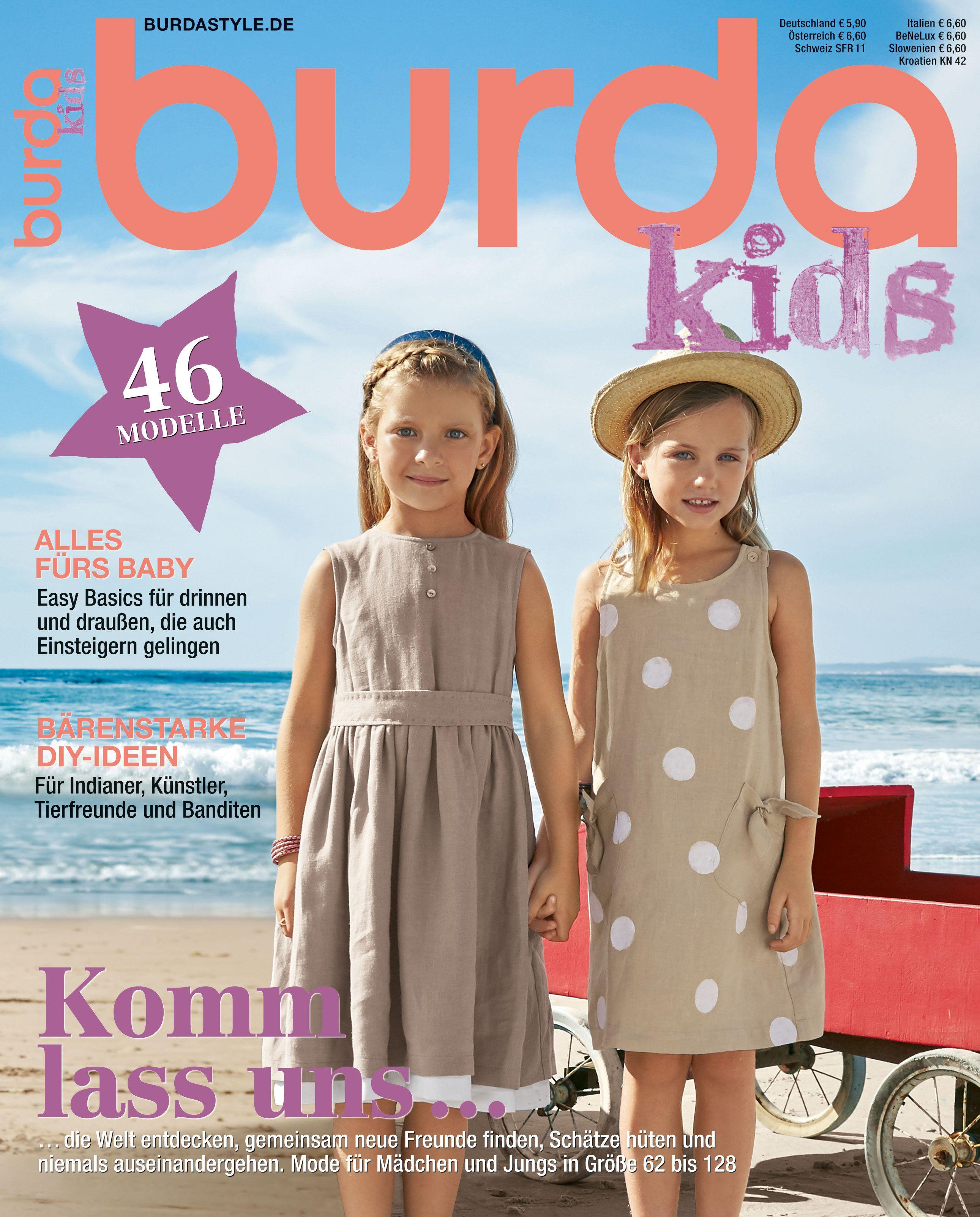 burda kids F/S 2016 - Mode für Mädchen und Jungs in Größe 62 bis 128 ...