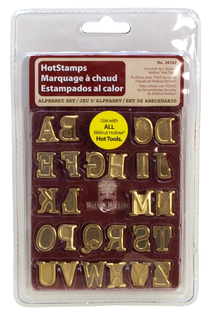 NEW Walnut Hollow Hotstamps Alphabet Set Uppercase 26162