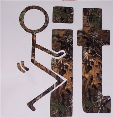F/' It  Real Tree PINK Camo Window Decal Decals Sticker Mossy Oak Camouflage
