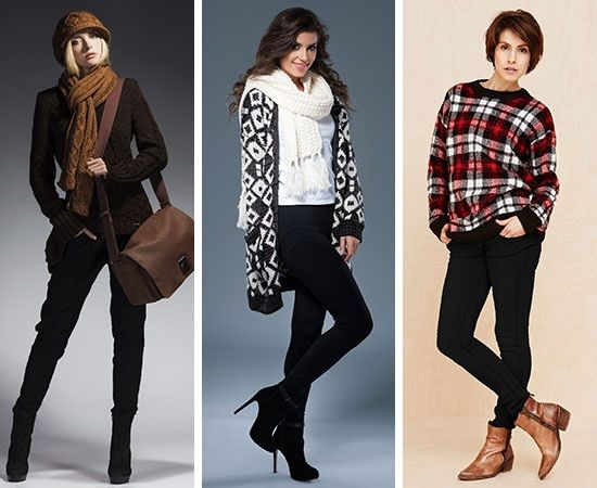 Winter outfit ideas for black jeans