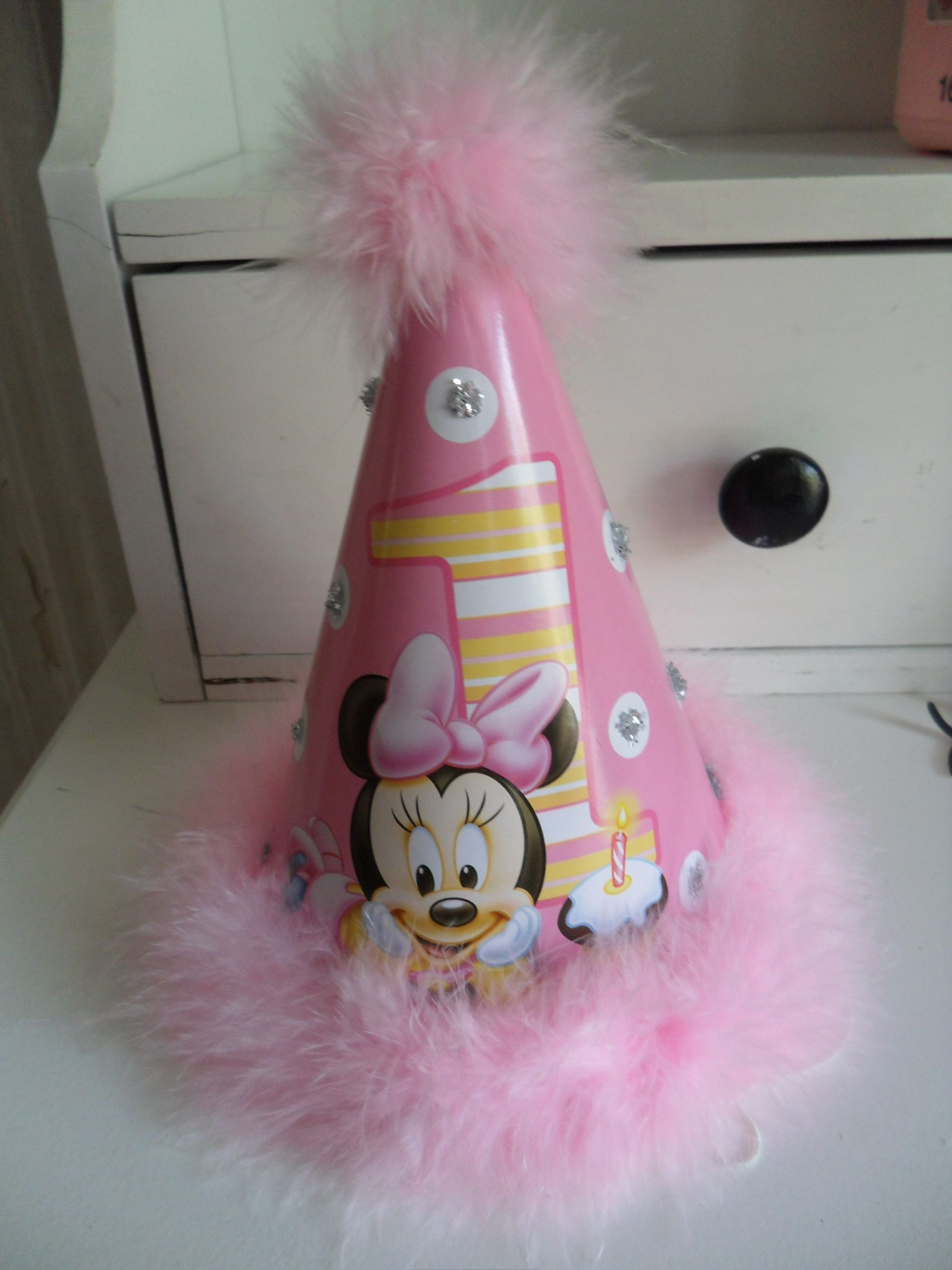 Baby Minnie Mouse 1st Birthday Party Hat