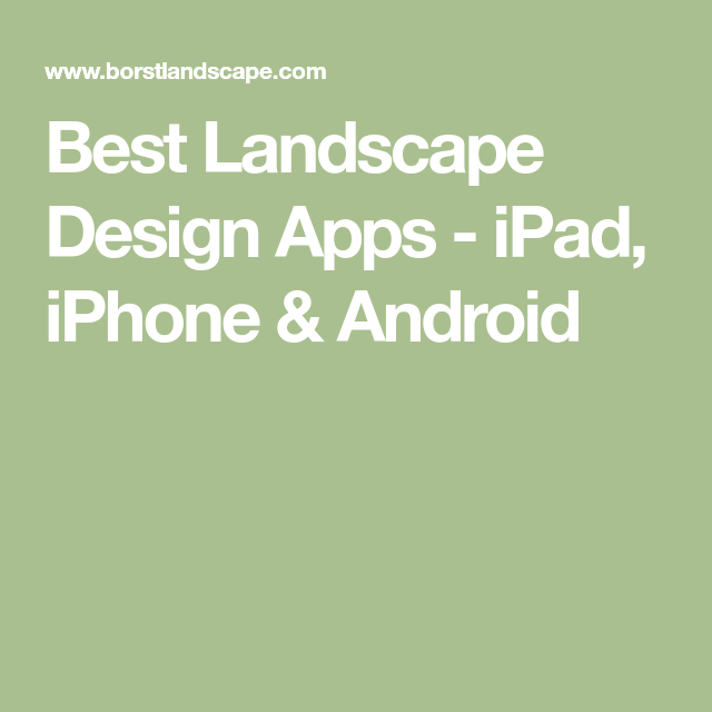 Best Landscape Design Apps iPad, iPhone & Android Cool