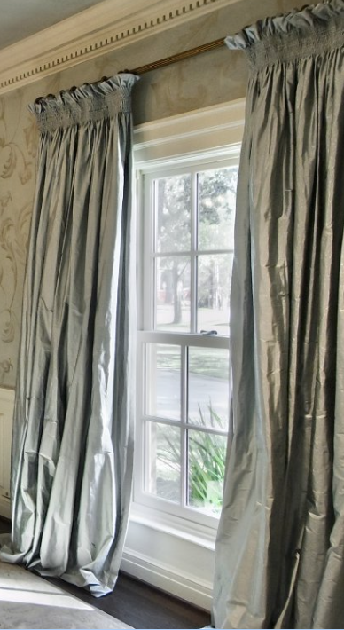 Beautiful Silk Drapes Window Treatments Living Room Blinds