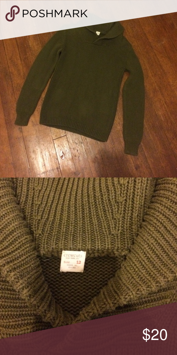 J. Crew Crewcuts olive green sweater Size 12 kids. This could really be unisex. J. Crew Shirts & Tops Sweaters