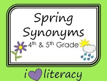 Spring Synonyms is a fun way to build word relationship knowledge of synonyms while practicing thesaurus skills. | by iHeartLiteracy