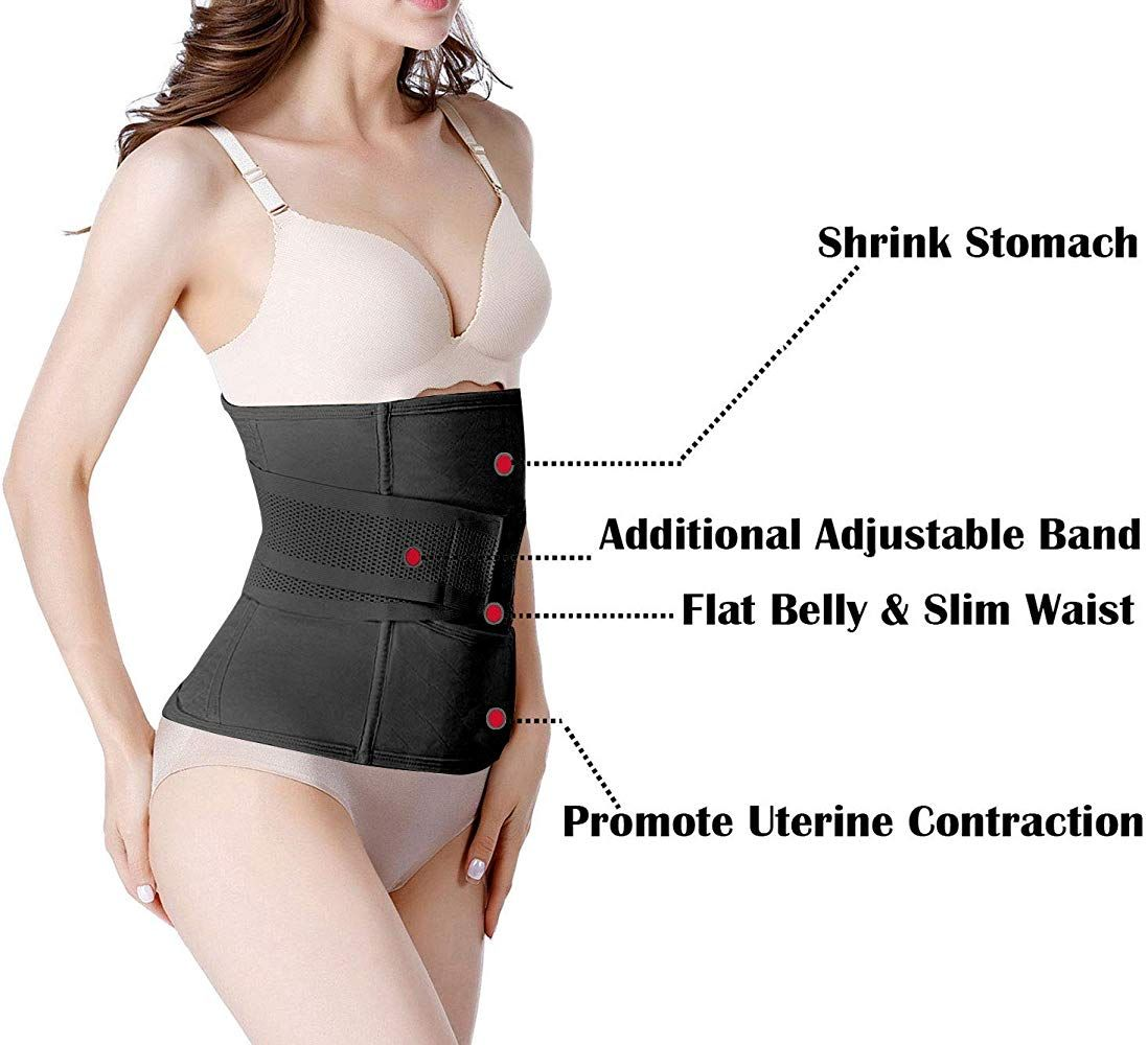 Postpartum Girdle C Section Recovery Belt Back Support Belly Wrap Belly Band Shapewear Black S At Amazon In 2020 Belly Wrap Post Partum Belly Wrap Postpartum Belly