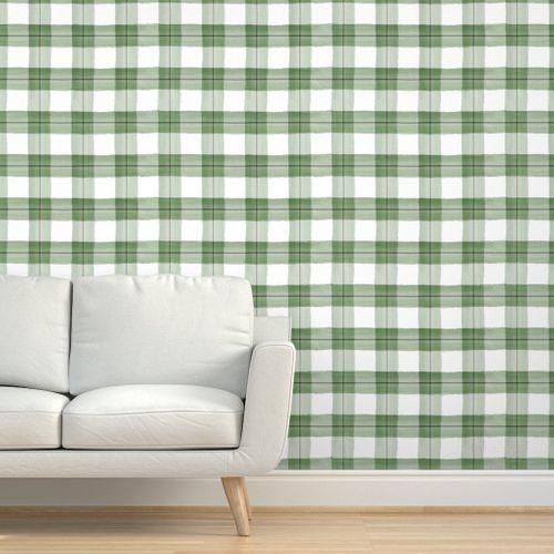 Christmas Plaid Green And Black Plaid Wallpaper Drawer And Shelf Liners Wallpaper
