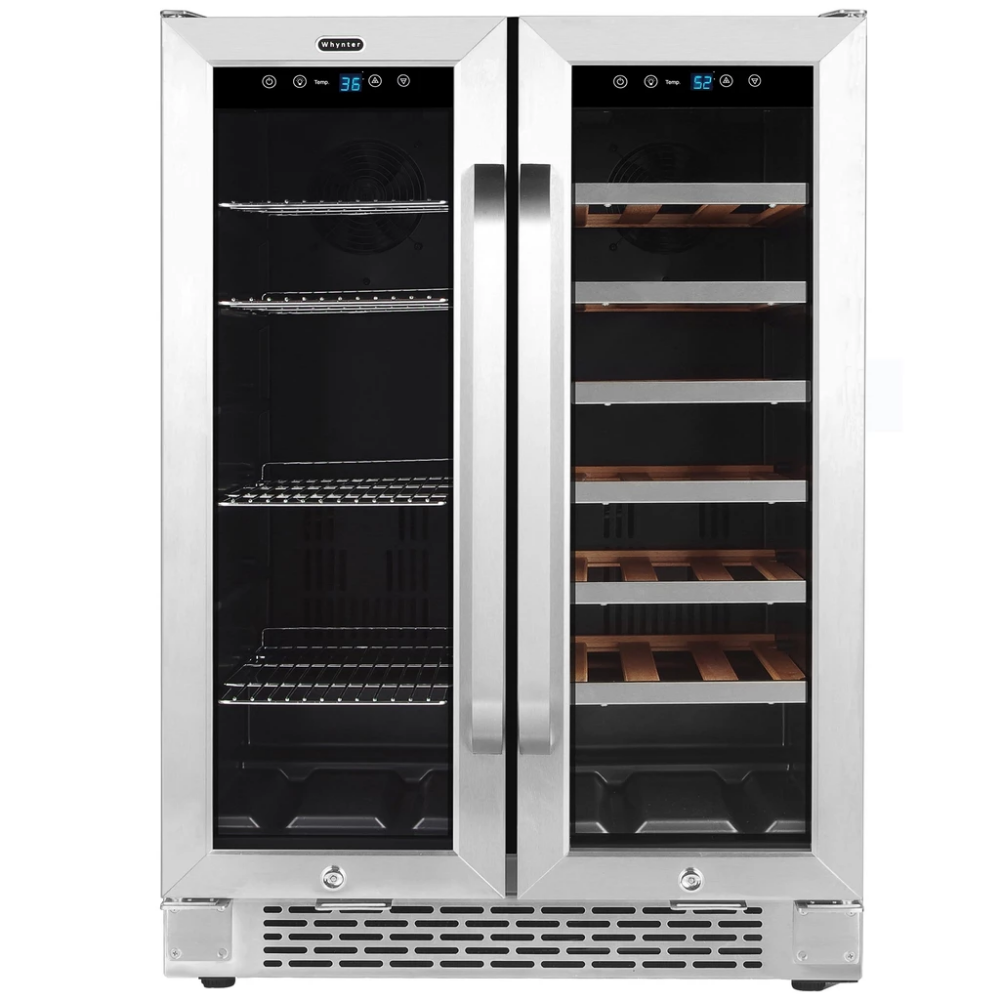 Free Shipping Whynter 24 Built In French Door Dual Zone 20 Bottle Wine Refrigerator Winecoolerplanet Com Wine Refrigerator Wine Chiller Cool Things To Buy