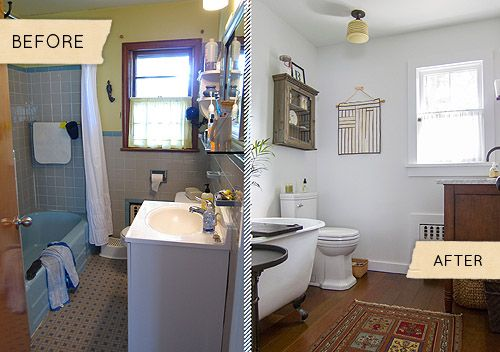 bathroom makeovers fast renovation tips before after photos video, bathroom ideas, home decor, h… | Cheap bathroom remodel, Bathrooms remodel, Half bathroom remodel