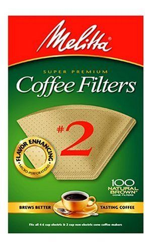 Melitta Cone Coffee Filter #2 100 Count Natural Brown 2 pack