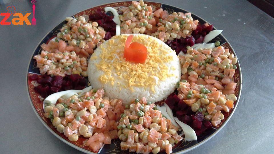 سلطة مميزة من متابعة زاكي من المغرب هل من مرحب بي زاكي Salad Food Side Plates