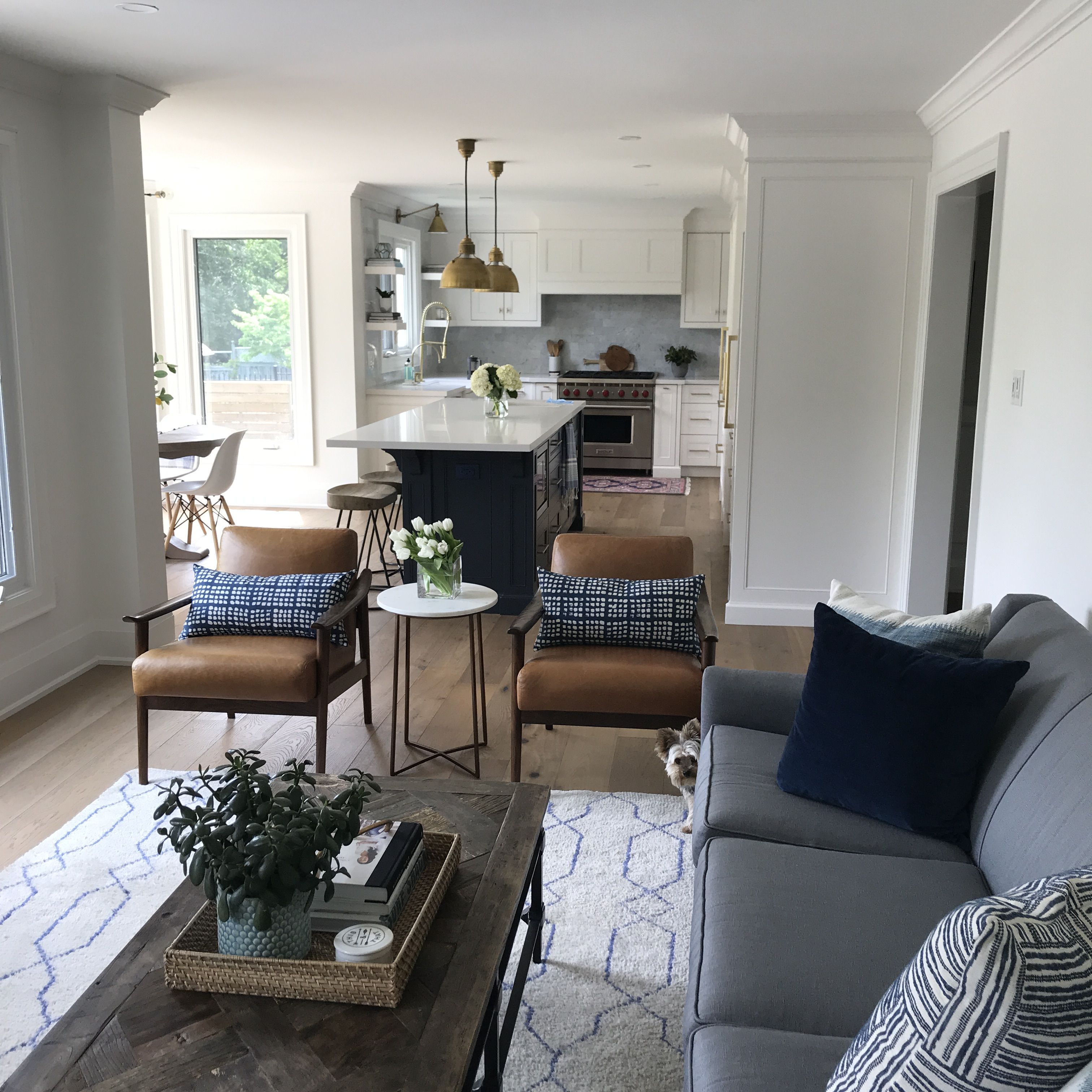 West Elm Mid Century Show Chairs Family Room Design By