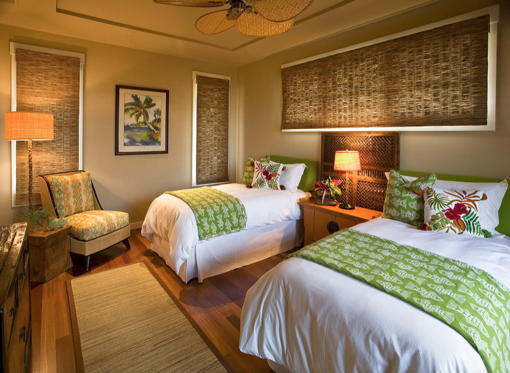 Hawaiian Style Bedroom  Cottage style bedrooms, Tropical bedrooms