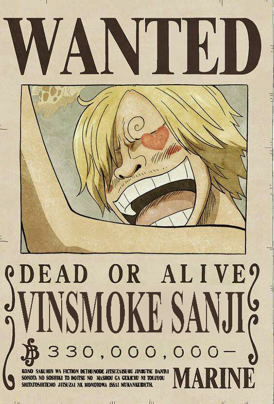 Vinsmoke Sanji New Wanted Poster Fiction Topi Jerami Gambar