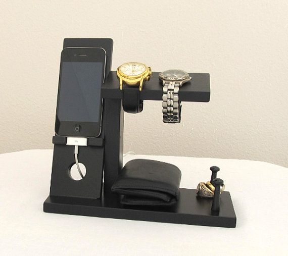 45c3c1f8ea3 Iphone Stand with Mens Valet Men Watch Holder- Men Watch Stand - Watch  Display Iphone Dock - Ring Holder. This would make a great Father s Day  gift!