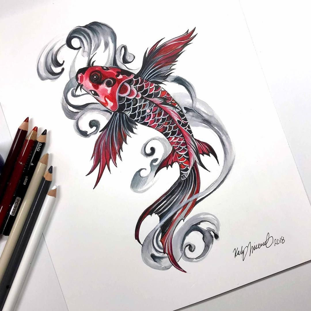 Red Koi Leg Tattoo Artists Org Koi Tattoo Design Koi Fish Tattoo Forearm Koi Tattoo Sleeve