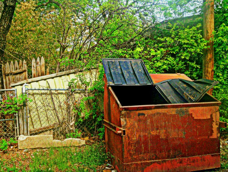 Dumpster Outdoor decor, Outdoor storage box, Wichita falls