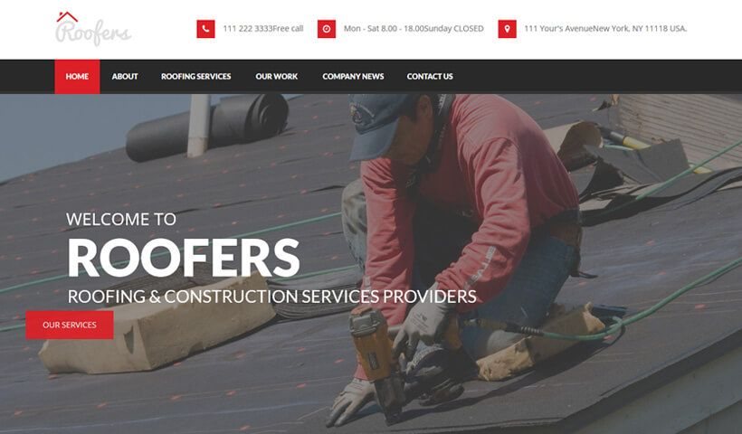 Roof Care Wordpress Theme Wordpress Theme Roofing Companies Roofing
