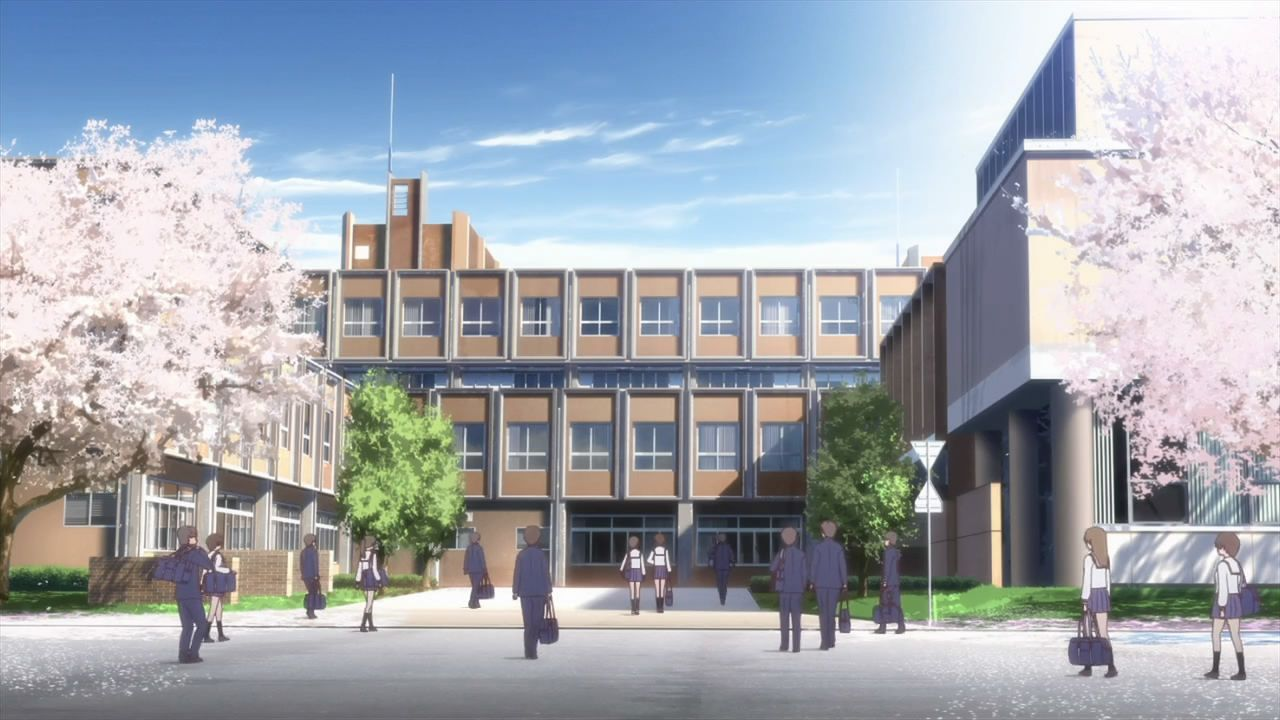 This is keiomi high school filled with all types of
