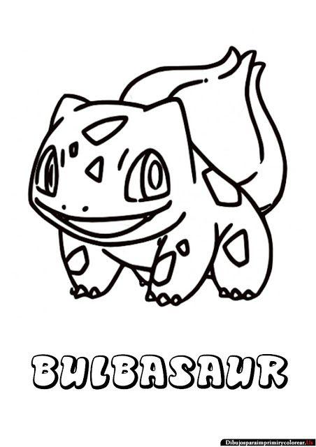 Dibujos de Pokemon para Imprimir y Colorear  bulbasaur