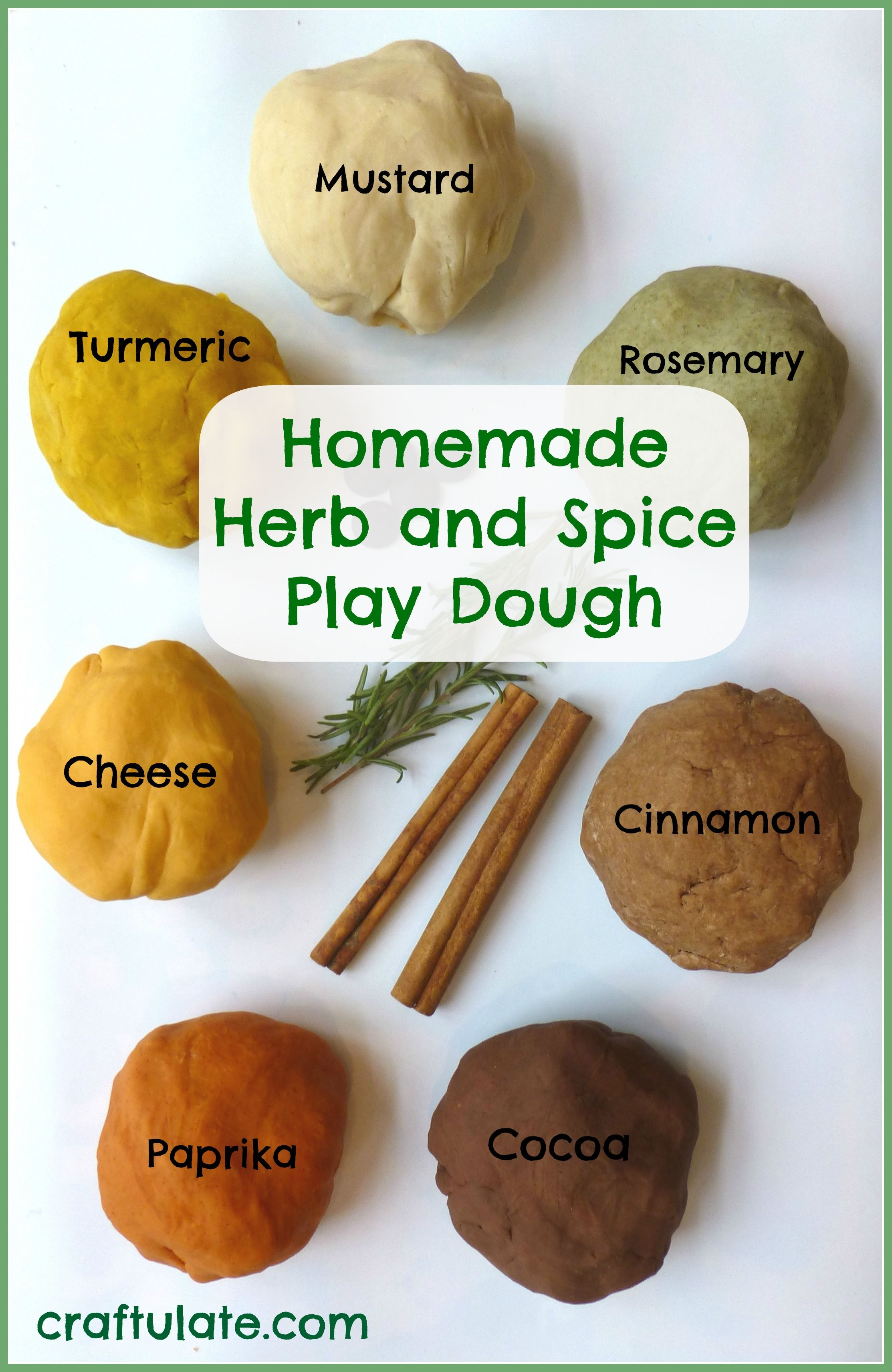 Homemade Herb and Spice Play Dough Recipe