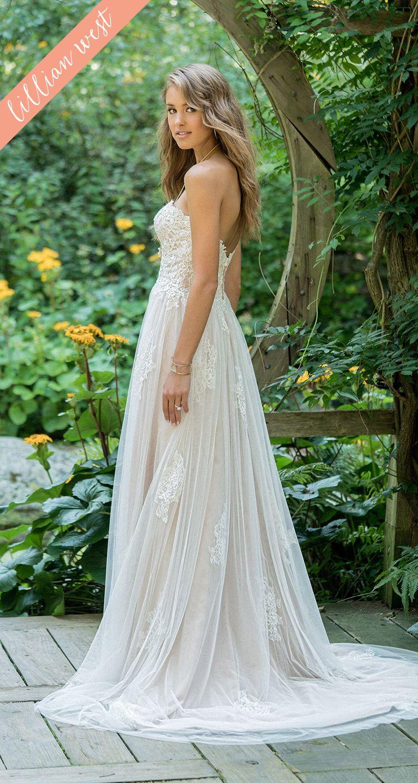 Sweetheart strapless wedding dress  Style  Scattered Lace Appliqué Sweetheart Strapless Wedding
