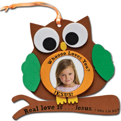 Craft Kit- Foam Photo Frame w/Bible Verse from CTA Inc | Owls ...